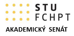 Doplňujúce voľby členov a ich náhradníkov do AS FCHPT STU